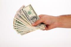 Contant geld ter beschikking stock fotografie