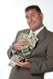 Contant geld ter beschikking Stock Afbeelding