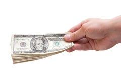 Contant geld ter beschikking Stock Foto