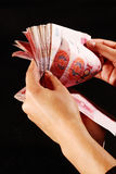 Contant geld van RMB (Chinese Yuan) Stock Foto's