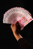 Contant geld van RMB (Chinese Yuan) Stock Afbeelding