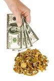Contant geld voor Goud 1 Royalty-vrije Stock Foto