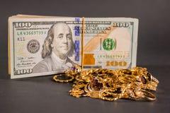 Contant geld voor goud 002 Royalty-vrije Stock Foto's