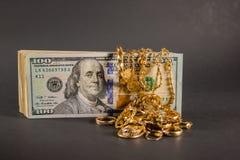 Contant geld voor goud 003 Royalty-vrije Stock Afbeeldingen