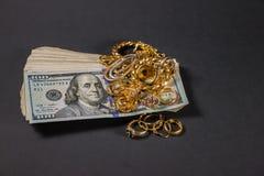 Contant geld voor goud 006 Royalty-vrije Stock Fotografie
