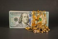 Contant geld voor goud 004 Royalty-vrije Stock Afbeeldingen