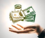 contant geldconcept Royalty-vrije Stock Afbeelding