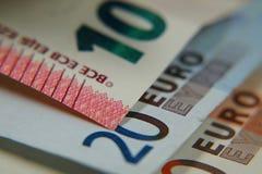 Contant geldeuro Stock Afbeeldingen