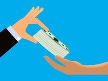 Contant geldfolder vector illustratie