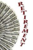 Contant geldgeld voor Retirment en het Investeren voor de Toekomst stock afbeeldingen