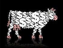 Contant geldkoe Stock Foto's