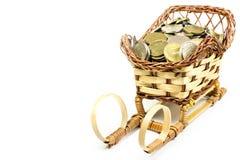 Contant geldmuntstukken Stock Foto