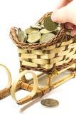 Contant geldmuntstukken Royalty-vrije Stock Afbeeldingen