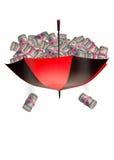 Contant geldparaplu Stock Afbeelding