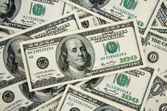 Contanti $100 fatture Fotografia Stock Libera da Diritti