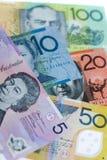 Contanti australiani Fotografia Stock