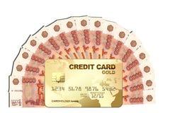 Contanti con la carta di credito Immagini Stock