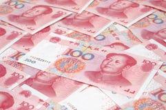 Contanti del mucchio RMB Fotografia Stock