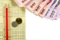Contanti e conto bancario Immagini Stock Libere da Diritti