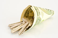 Contanti per comprare una casa Immagine Stock