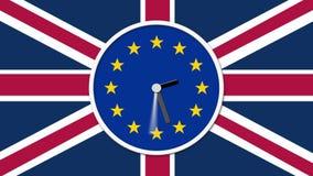 Contar alla rovesciae animato dell'orologio Concetto BRITANNICO del referendum di Brexit UE