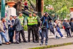 Contar con al presidente Of Ecuador imagen de archivo