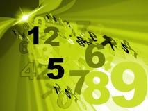 Contar a matemática representa o projeto do número e numérico ilustração royalty free