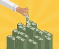 Contare i depositi Immagini Stock