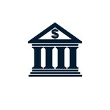 Contare logo concettuale, simbolo unico di vettore Sistema bancario T royalty illustrazione gratis