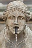Contarini fontanna w mieście Bergamo Alta zdjęcia royalty free