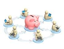 Contas bancárias virtuais Fotografia de Stock Royalty Free