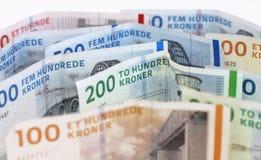 Contas das coroas dinamarquesas Imagem de Stock