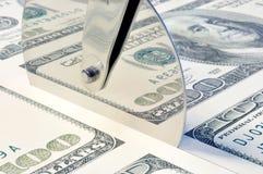 Contas de cem-dólar da folha Fotos de Stock Royalty Free