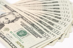 20 contas de dólar Fotografia de Stock