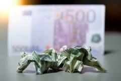 Contas de dólar amarrotadas Foto de Stock Royalty Free