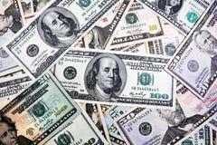 Contas de dólar americanas Fotografia de Stock