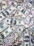 Contas de dólar americanas Foto de Stock Royalty Free