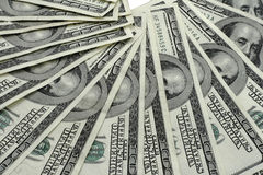 Contas de dólar de Hundert Imagens de Stock Royalty Free