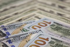 Contas de dólares do fundo Fotos de Stock Royalty Free