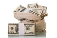 Contas de dinheiro do dólar Fotos de Stock
