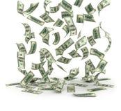 Contas de dólar de queda Fotos de Stock Royalty Free