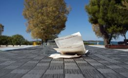 Contas de moeda croatas fotos de stock royalty free