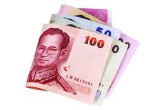 Contas de moeda do baht tailandês Foto de Stock