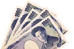 Contas de moeda dos ienes japoneses Imagem de Stock