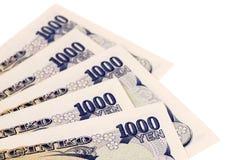 Contas de moeda dos ienes japoneses Fotos de Stock