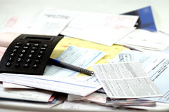 Contas de realização do orçamento foto de stock
