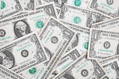 Contas de um dólar Imagens de Stock