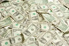 Contas de um dólar Fotos de Stock