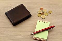 Contas do Euro, caderno Foto de Stock Royalty Free