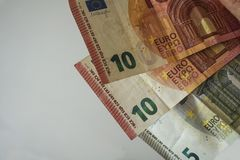 Contas do euro do dinheiro Imagem de Stock